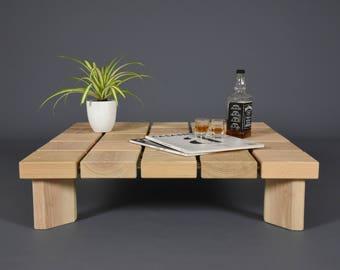 Coffee Table Design / Side Table Wood Mid Century / Modern Handmade Ash  Tree Wood Table