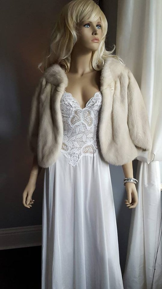 Shrug Mink Mink Bridal Stole Bolero Fur Luxury Wedding Wrap Fur Cropped Mink Vintage Capelet Fur Luxury Ivory Shawl Stole Fur Bridal EIOXxwH