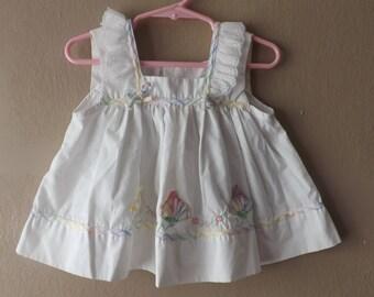 Vintage Baby Girls Dresses, Vintage Baby Dress, Vintage Dresses, Pinafore Dress, Baby Girl Clothes, Vintage Kids Clothes, Pinafore Dress