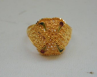 20k gold ring handmade jewelry traditional design