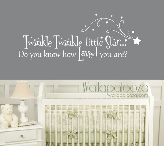 sc 1 st  Etsy & Twinkle Twinkle Little Star Wall Decal Nursery Wall Decal