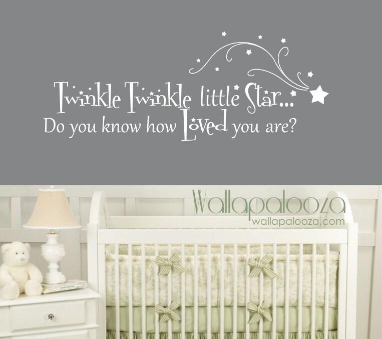 twinkle twinkle little star wall decal nursery wall decal