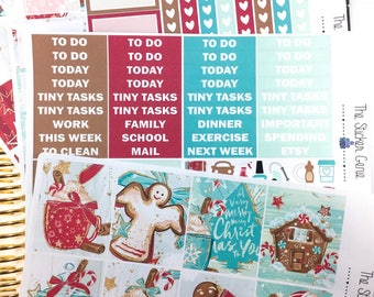 gingerbread Weekly Kit | Planner Stickers, Weekly Kit, christmas Weekly Kit, Vertical Planner Kit, Full Weekly Kit, winter weekly kit