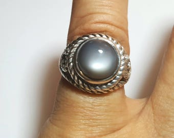 Moonstone Silver Ring from Brazil