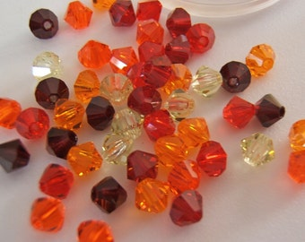 4mm Preciosa Czech Crystals - Sunburst Mix