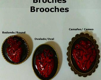 With All My Heart Brooches