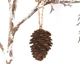 Pinecone Ornament, Holiday Ornament, Pinecone, Christmas Ornament, Resin Ornament, Resin Pinecone Ornament