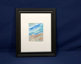 Original Small Abstract Paintings, Artist Portfolio, Mid Century Painting, Mixed Color Palette