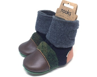 """Nooks Design toddler booties, US Size 5.5 / 12-18m / 5"""" length"""