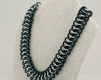 Aluminum & Rubber Chainmail Necklace