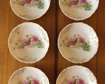 Shabby Chic Floral Berry Bowls (QTY 6)