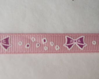2.40 m of cotton Ribbon thick knots Butterfly patterns