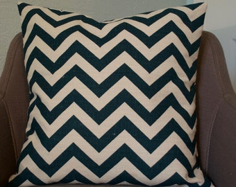 Chevron Print Pillow Cover - Titan/Birch