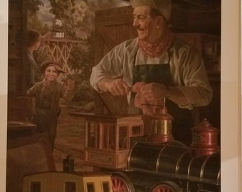 """Bob Byerley """"Walt's Magic Barn"""" Ltd. Edition Lithograph Signed and Numbered with COA"""