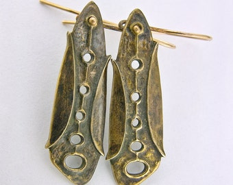 "Bronze earrings ""Proto"""