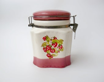 Vintage jar with lid, vintage jar, vintage jars, ceramic jar, vintage jar and lid, cookie jar, vintage, retro kitchen jar, kitchen jar,