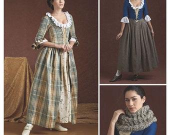 Simplicity 8161 Misses' 18th Century Highland (Scottish) /Outlander Costumes