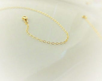 Gold Chain Necklace - Simple Gold Necklace - 14k Gold Filled Chain Necklace - Thin Gold Chain - Plain Gold Necklace - Dainty Chain