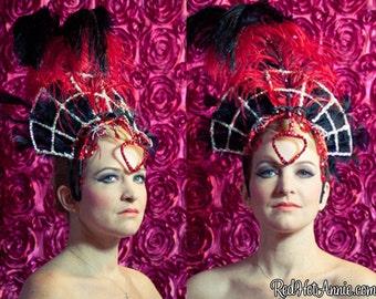 Large Vegas Samba Style Seasonal Showgirl Headdress - One of A Kind Custom Costume