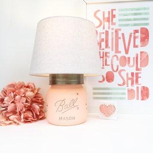 Mason Jar Lamp, Home Decor, Mason Jar, Lighting, Lamp, Farmhouse,