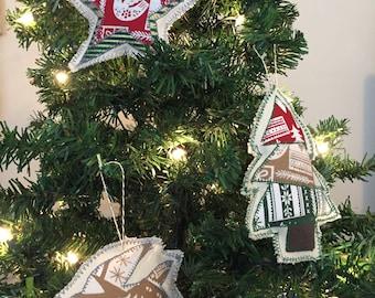 3 Custom Fabric Ornaments
