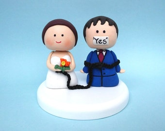 We Did What wedding cake topper funny wedding cake topper