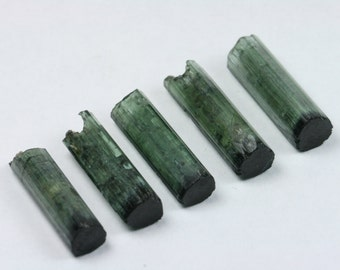 Tourmaline Crystal, Cat's Eye Tourmaline Lot, Brazil, 5 pcs, 4.1 grams E295