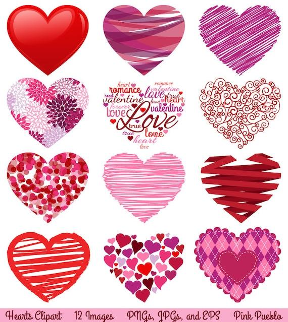 Valentine's Day Hearts Clipart Clip Art Love Clipart Clip