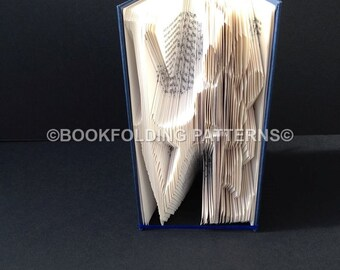 Love with paw book folding pattern