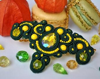 Matcha Necklace - Handmade Soutache Necklace