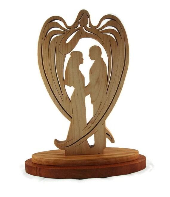 Wedding / Marriage Wooden Guardian Angel Handmade By KevsKrafts