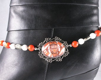 University of Texas Boot Bracelet - Texas Longhorns - Gameday Jewelry - Cowgirl Boot Bling