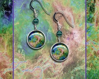 Sterling Silver Venus Earrings presented on a high quality photo card with matching envelope