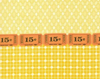 Punctuation by Sandy Klop for American Jane Fabrics,  moda Fabric, Yellow