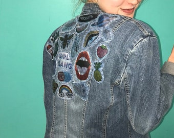 Girl Gang Jean Jacket with Patches