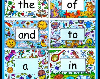 Site Words  Homeschool  Flash Cards  Teaching Tool  ABCs  Reading  Learn to read  Coloring Activity  Learning Activity  Home School  Kinder