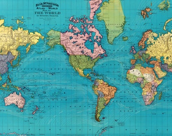 world map printable digital downloadvintage world map 1897 old world map world map high resolution instant digital downloadprintable