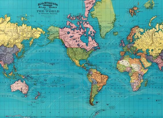 World map printable digital downloadntage world map 1897 old world map printable digital downloadntage world map 1897 old world map world map high resolution instant digital download gumiabroncs Images