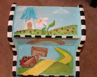 Custom Hand Painted Child's Stool