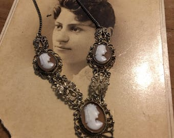 Carved Cameo Necklace