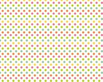 """Riley Blake  """"Small Dots"""" Multi Cotton Fabric"""