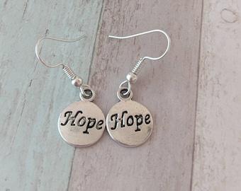 Awareness earrings, hope earrings, handmade earrings, hope jewelry, cute earrings, cute jewelry, novelty earrings, novelty jewelry,