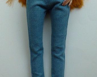 Lt Blue or Black Slub Boyfriend Jeans for Ellowyne Wilde