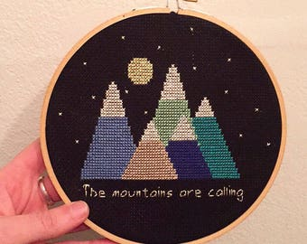 The Mountains are Calling Pattern