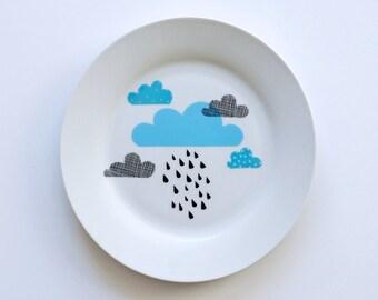 Ausverkauf! Wolken und Regen Frühstücksteller