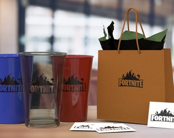 "15  FORTNITE (3"" x 2"") Vinyl Party Decals DIY for Cups, Mugs, Glasses etc. FORTNITE Stickers for Laptops and Windows or Whatever"