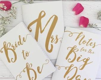 Wedding Notebooks | Wedding Journals | Bride To Be | Engagement Gift | Wedding Planning