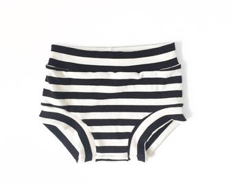 Black & White Stripe Shorties