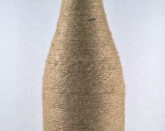 Large Twine Wrapped Bottle