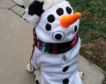 Snowman Hoodie for Dog or Cat Large-XXLarge by TKC Cozy Pawz
